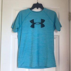 blue under armour shirt